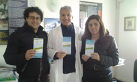 I genitori di Semi con il dott. Villani, Direttore del reparto di Neonatologia e Patologia Neonatale dell'Ospedale di Mantova