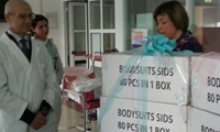 La consegna dei nostri body all'Ospedale G. Fracastoro di San Bonifacio