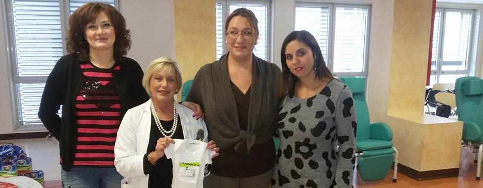 La consegna dei nostri body all'Ospedale M. Mellini di Chiari