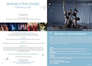 Programma spettacolo al Teatro Camploy